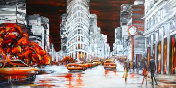 Image de la toile « Back to the Flatiron » de Myrtha Pelletier