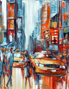 Image de la toile « Cabs on Times Square2 » de Myrtha Pelletier