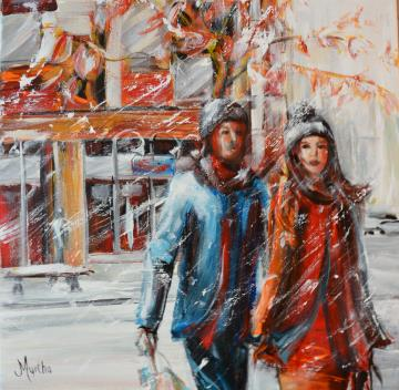 Image de la toile « Le shopping » de Myrtha Pelletier