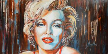 Image de la toile « Marilyn, l'inoubliable » de Myrtha Pelletier