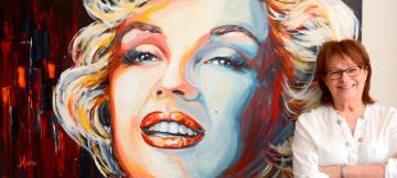 Image de la toile « Ms Marilyn  » de Myrtha Pelletier