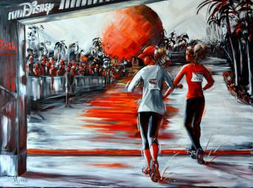 Image de la toile « Run Disney » de Myrtha Pelletier