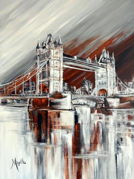 Image de la toile « Tower Bridge (vendu) » de Myrtha Pelletier